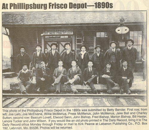 Phillipsburg, MO Frisco Railway Depot