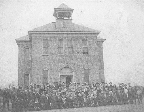 Conway, Missouri, Conway School, Laclede County, Conway School c. 1905