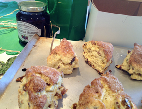 Traditional Scones for St. Patrick's day